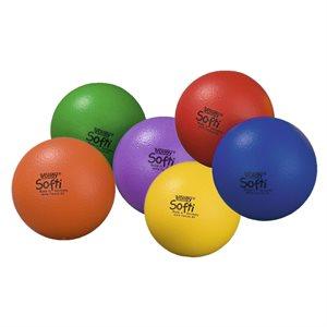 6 Volley® Softi foam balls