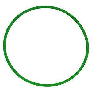 Heavy-duty flat hoop, green