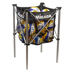 Collapsible beach volleyball cart