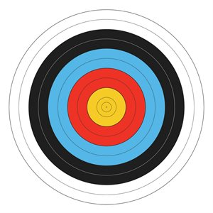 Round colored foam target