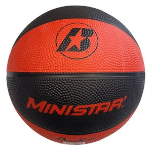Rubber basketball, red / black, #3
