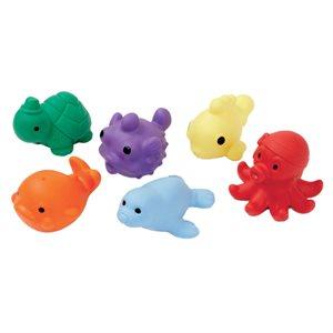 6 sea critter shaped