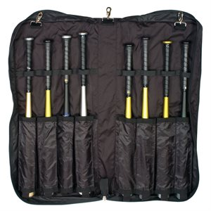 Folding zippered bat portfolio