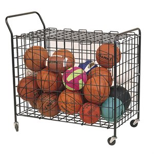 Steel wire ball cart on wheels