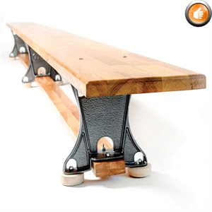 Assembled wooden bench