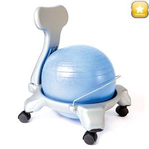 Molded plastic ball chair