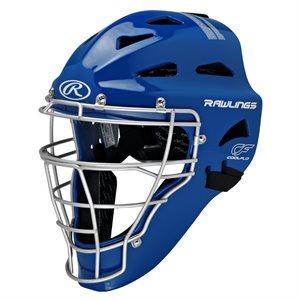 SR baseball catcher's helmet / mask, royal blue