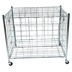 Foldable ball cart, steel wire frame