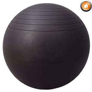 Anti-burst inflatable fitness ball