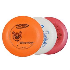 3 disc-golf discs