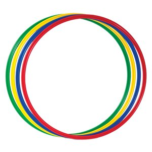Set of 4 flat hoops
