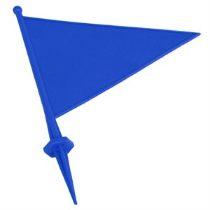 Field flag marker with spike, blue