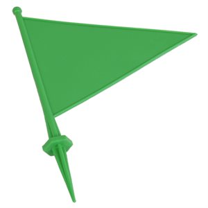 Field flag marker with spike, green