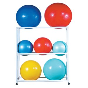 Stability ball rack with wheels