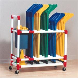 Floor hockey rack