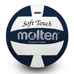 Molten leather volleyball blue / white