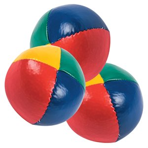 3 vinyl juggling balls