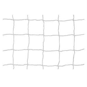 Soccer net, white, 6.5'x18.5'x2'x6', 3mm