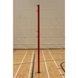 """Pair of steel volleyball post with winch, 2 3 / 8"""""""