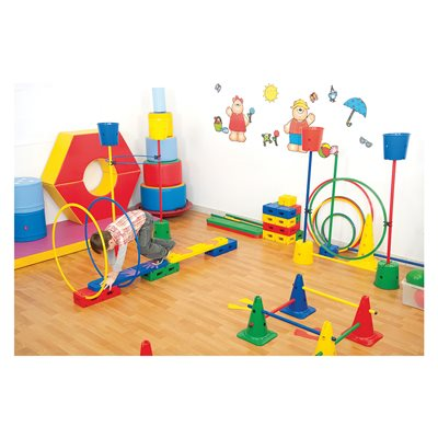 Steeplecourse and obstacle set, 120 pieces