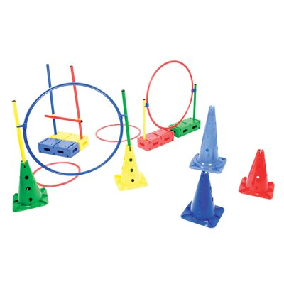 Steeplecourse and obstacle set, 50 pieces