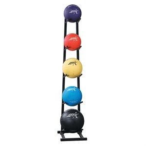 Steel medicine ball rack