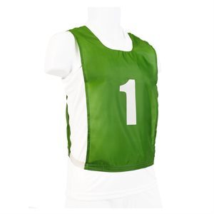 12 numbered pinnies, JR, green