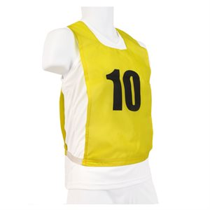 12 numbered pinnies, JR, yellow