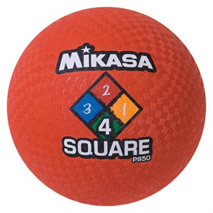 Four Square playground ball, red