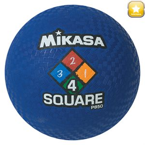 Four Square playground ball, blue