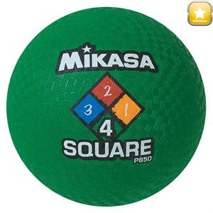 Four Square playground ball, green