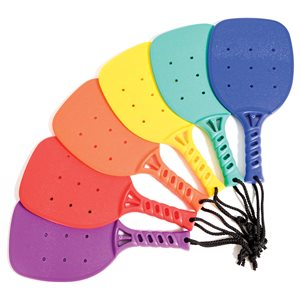 6 plastic pickleball racquets