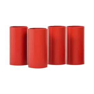 4 Rolla Bolla tubes, 20 cm, red