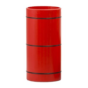 Roll Play, 12.5 cm, rubber stripes, red