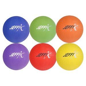 Set of 6 playground rubber balls
