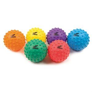 "6 bumpy soft PVC ball, 8"""