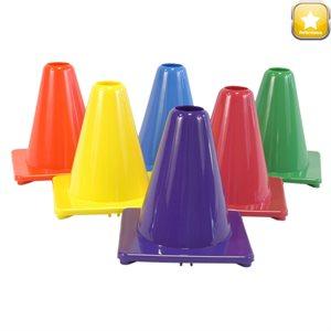 Set of 6 soft PVC cones