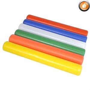 6 plastic relay batons