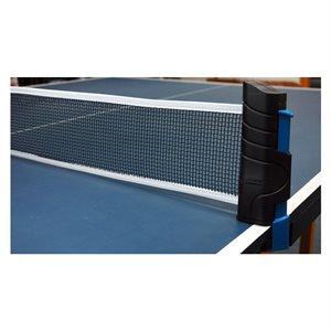 Self-tensioning table tennis net