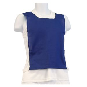 Cotton pinnie, elastic and velcro, blue