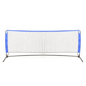 Portable soccer / tennis net and poles set, 10'