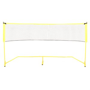 Portable soccer / tennis net and poles set, 18'