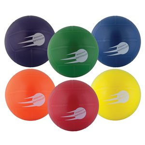 6 inflatable soft rubber volleyballs