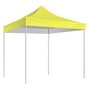 Folding Shelter with slip-over bag 10'x10', yellow