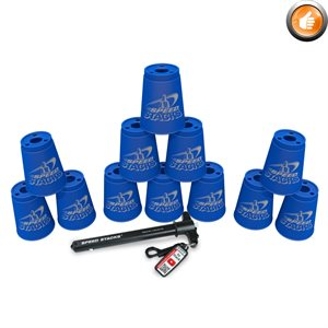 12 Speed Stacks cups, blue