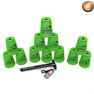 12 Speed Stacks cups, green