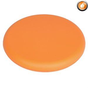 Vinyl-covered foam frisbee