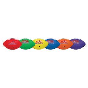 6 textured rubber footballs