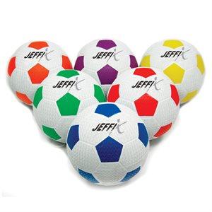 6 resistant rubber soccer balls