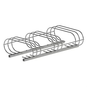 Bicycle rack, 6 spots, galvanized steel